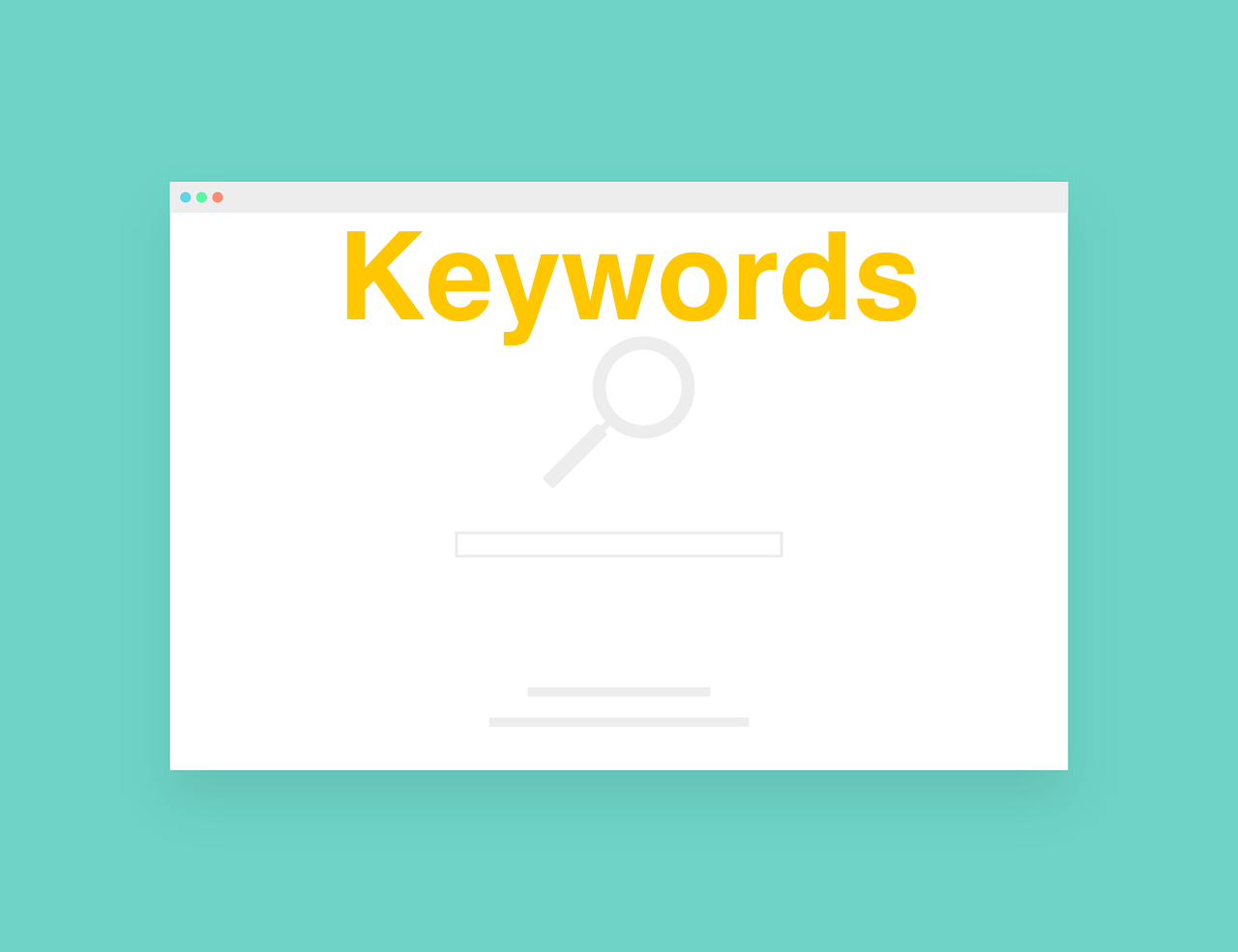 Keyword and Search Graphic